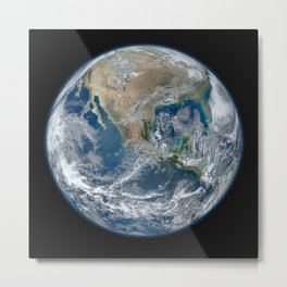 North America from Space Metal Print