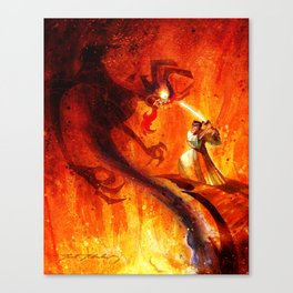 Samurai Jack VS Aku Canvas Print