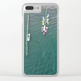 Aerial Sea of Galilee Clear iPhone Case