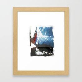 Sunny sofa Framed Art Print