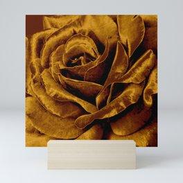 copper velvet rose Mini Art Print