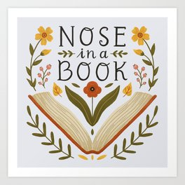 Nose in a Book Art Print