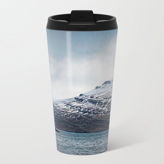 Alone House Mountain Metal Travel Mug