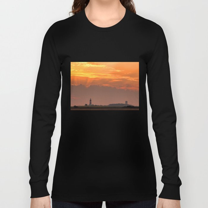 Sun rays over Happisburgh Long Sleeve T-shirt