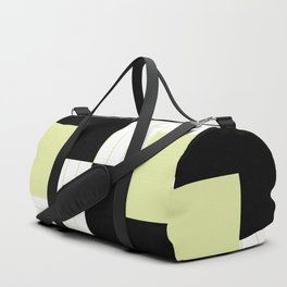 Creamy Stripe with Black Box Duffle Bag