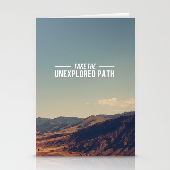 Take The Unexplored Path Stationery Cards