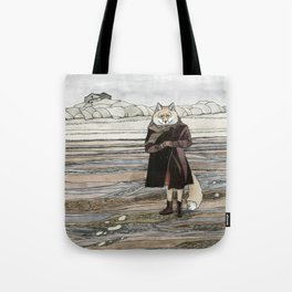 Fox in Sand Dunes Tote Bag