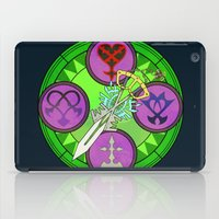 kingdom hearts iPad Cases featuring Kingdom Hearts stained glass illustration  by Paul Giovinco