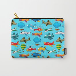Cute Airplanes Helicopters Airships  Pattern Carry-All Pouch
