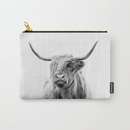 portrait of a highland cattle Carry-All Pouch