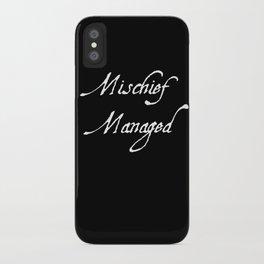 Reverse Mischief Managed  iPhone Case