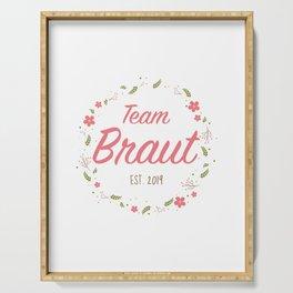 Team Braut  - Blumenkranz 4 - JGA Serving Tray