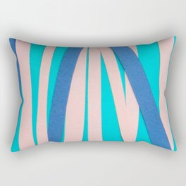 Pink & Blue Stripes on Turquois Rectangular Pillow