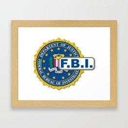 FBI Seal Mockup Framed Art Print