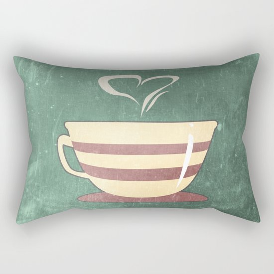 Coffee is love illustration Rectangular Pillow