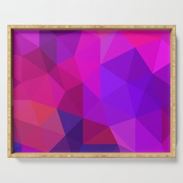 Magenta Low Poly Serving Tray