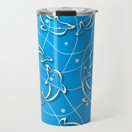 Dolphins rotating on the Wave_D Travel Mug