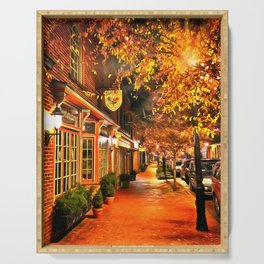 Gordonsville, Virginia a Night Serving Tray