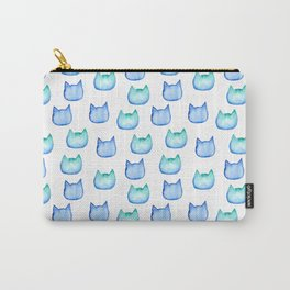 watercolor cats heads Carry-All Pouch