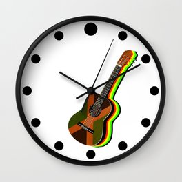 Reggae Guitar Wall Clock