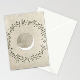 Crescent and Wreath Stationery Cards