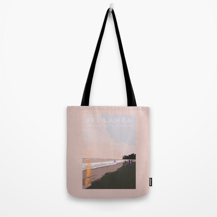 Ahangama, Sri Lanka Travel Poster Tote Bag