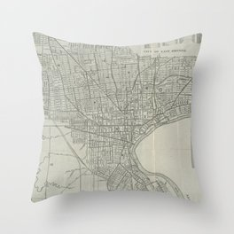Vintage Map of Newark NJ (1920) Throw Pillow
