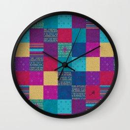 King of Kings Patchwork Amanya Design Wall Clock