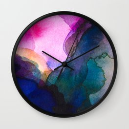 Color layers 4 Wall Clock