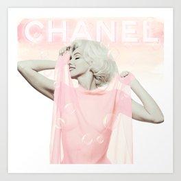 Marilyn - Home Decor - Monroe - Fashion - Bubblebath Art Print