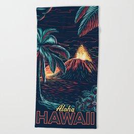hawaiian night Beach Towel