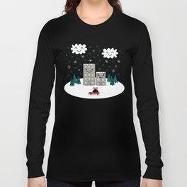 Kawaii Winter Town Long Sleeve T-shirt
