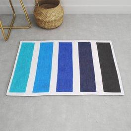Colorful Blue Stripe Pattern Rug