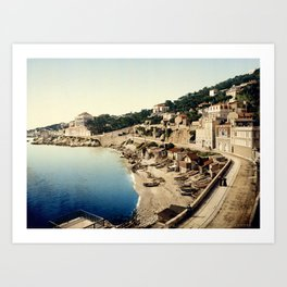 Beach at Marseille, France, ca. 1895 Art Print