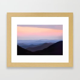 Breath Taking Blue Ridge Mountains Framed Art Print