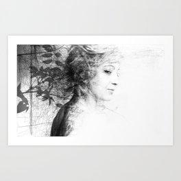 BW Portrait Art Print