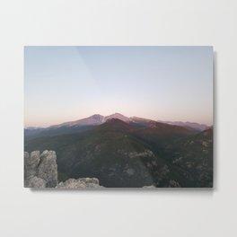 Longs Peak & Estes  Cone from Lily Mountain Metal Print