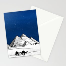 The pyramids of Giza Stationery Cards