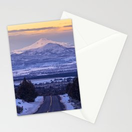 Pacific Northwest Sunset Over Cascades Stationery Cards