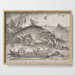 Big Fish Eat Little Fish Pieter Bruegel the Elder 1557 Serving Tray