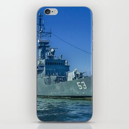 Army Ship in Caribbean Sea, Cartagena - Colombia iPhone Skin