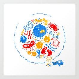 Primary soup Art Print