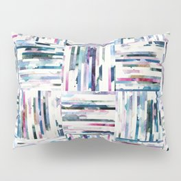 Quilted LINEA Abstract Paper Collage Pillow Sham