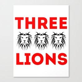 England | Three Lions Canvas Print