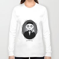 selena gomez Long Sleeve T-shirts featuring Gomez Addams by Love Ashley Designs