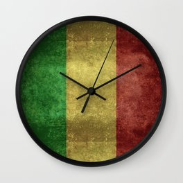 The National flag of the Republic of Mali Wall Clock