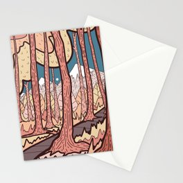 An autumn forest walk  Stationery Cards