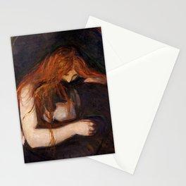 Vampire by Edvard Munch Stationery Cards
