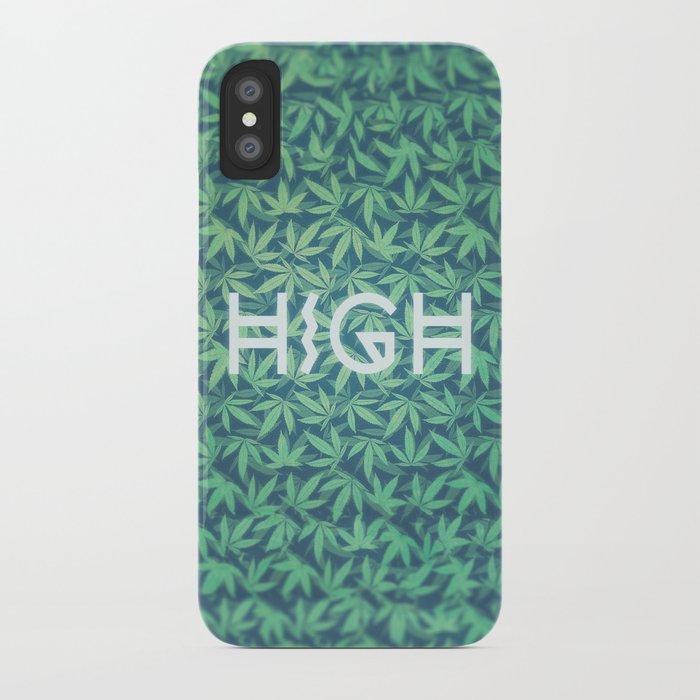 wholesale dealer d734d 75fda HIGH TYPO! Cannabis / Hemp / 420 / Marijuana - Pattern iPhone Case