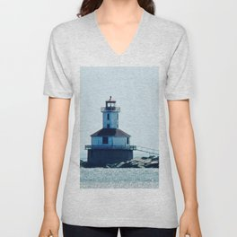 Summerside Harbour Lighthouse PEI Unisex V-Neck